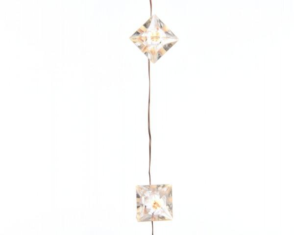 Indoor Lichterkette Diamanten Kupfer/warmes Weiß 390cm-40L