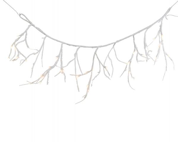 Outdoor Zweigvorhang Weiß/warmes Weiß 100x45cm-40L