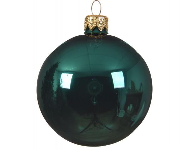 Glaskugel Smaragdgrün glänzend