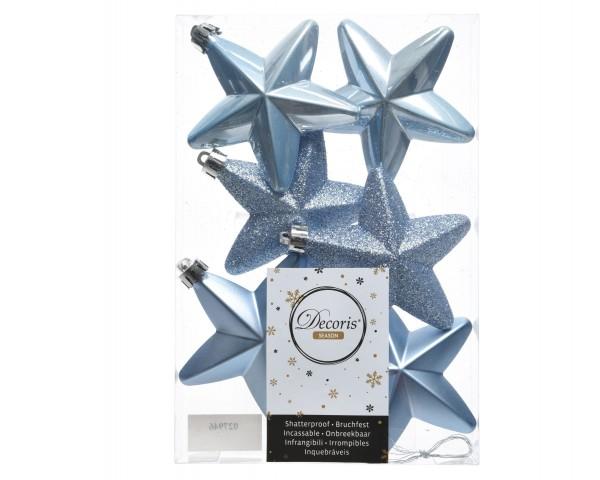Baumschmuck Sterne bruchfest Stahlblau