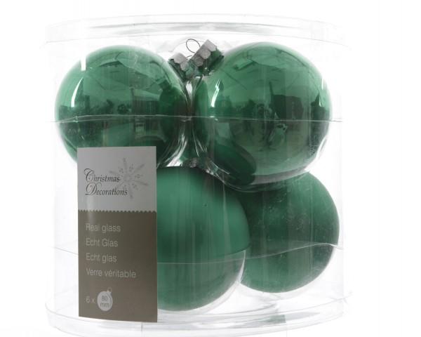 Baumschmuck Glaskugelmix Hellgrün 80mm