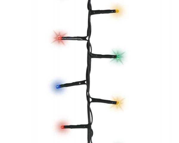 1-2-Glow Outdoor Lichterkette kompakt Weihnachtsbaum funkelnd für Bäume bis 2,10 m Grün bunt