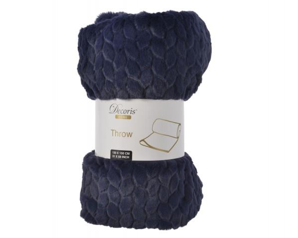 Decke Kunstfaser Nachtblau