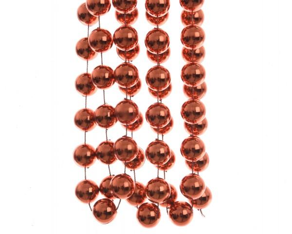 Deko Perlenkette XXL Herbstrot