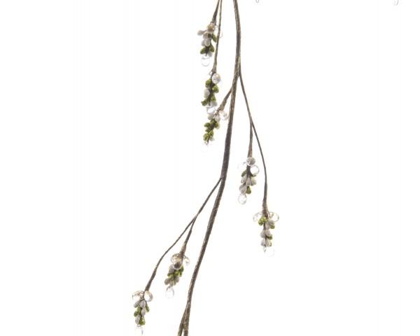 Zweig mit Beeren und Perlen lang