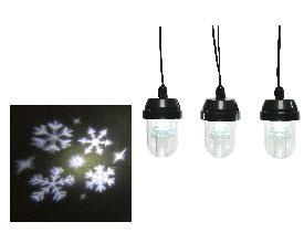Outdoor LED Projektor Schneeflocken KaltWeiß
