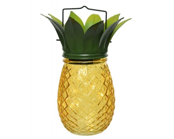LED Solarglas Ananas aussen