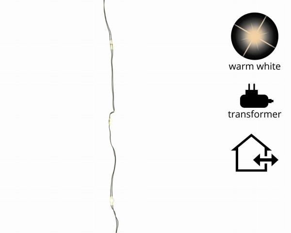 1-2-Glow Outdoor Lichterkette Weihnachtsbaum für Bäume bis 2,40 m transparent/warm Weiß