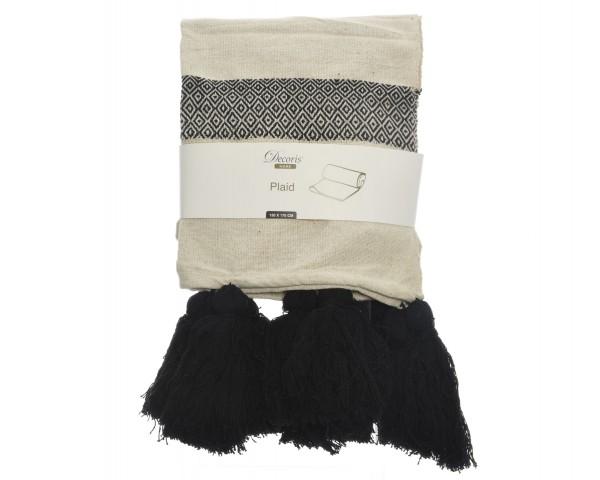 Baumwoll Decke mit Streifen