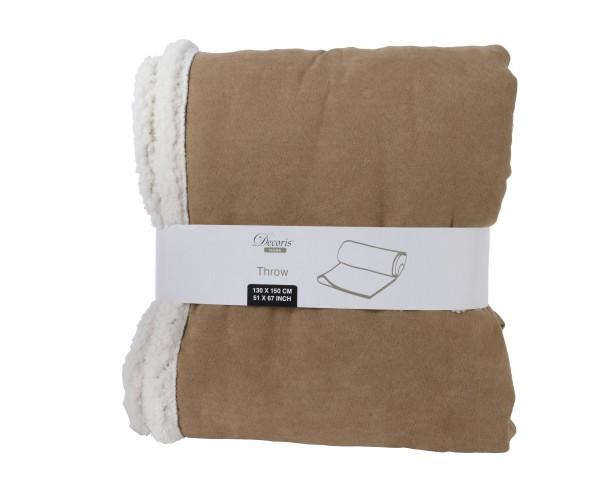 Decke Kunstfaser braun