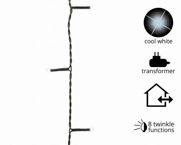 1-2-Glow Outdoor Lichterkette Weihnachtsbaum funkelnd für Bäume bis 1,50 m grün/kalt Weiß