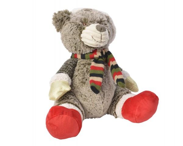 Kuscheltier Bär mit Hut und Schal