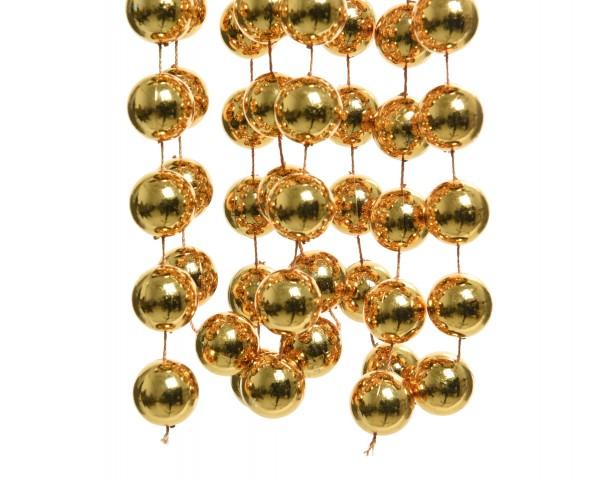 Deko Perlenkette XXL Senf