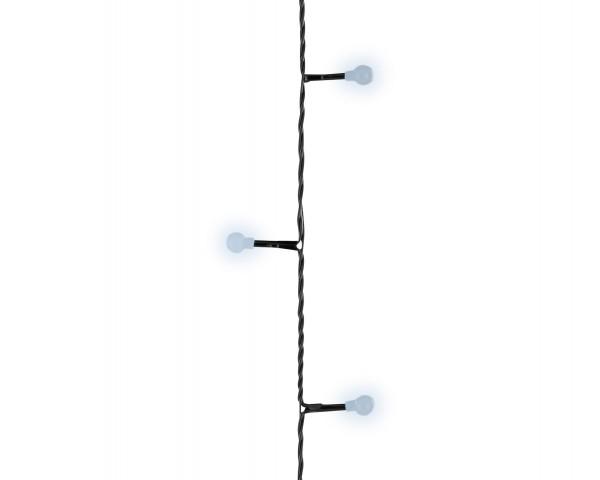 Outdoor Lichterkette Minikugel funkelnd schwarz/kaltWeiß 13,5m-180L