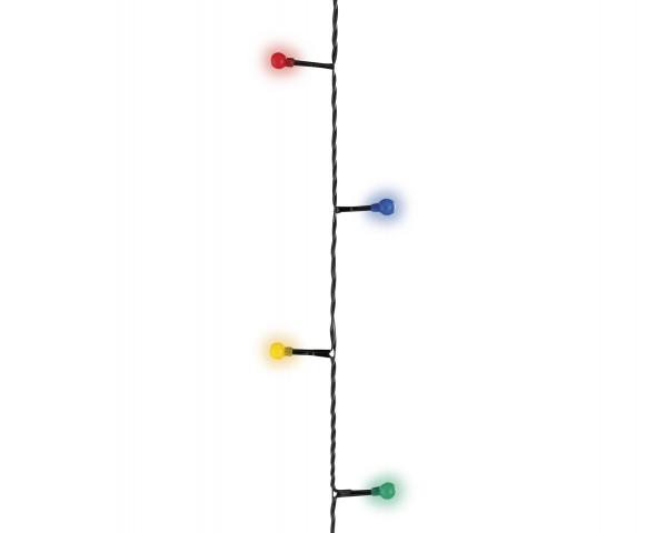 Outdoor Lichterkette Minikugel schwarz/bunt 3m-40L