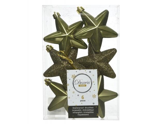 Baumschmuck Sterne bruchfest Moosgrün