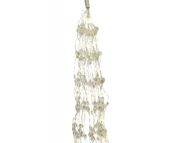 Outdoor Lichterbündel Silber/warmes Weiß 190cm-640L
