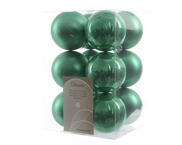 Weihnachtsbaumkugeln bruchfest Hellgrün 60mm