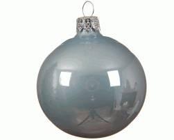 Baumschmuck Glaskugeln Nebelblau