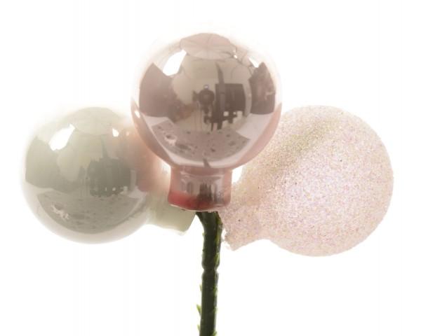 Glaskugelbündel auf Draht Ton-in-Ton pink/farbe(n)