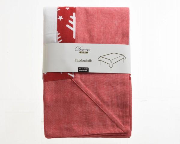 Tischdecke rot / weiß