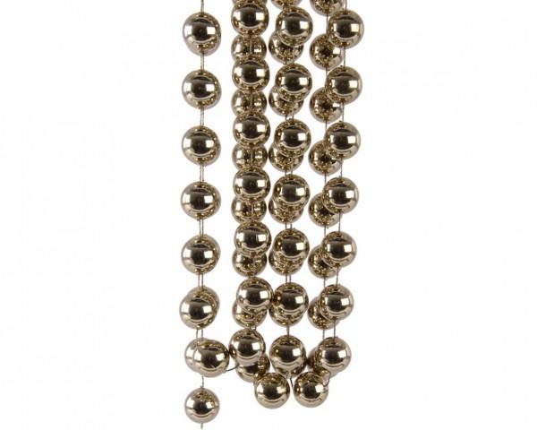 Deko Perlenkette XXL Kaschmirbraun