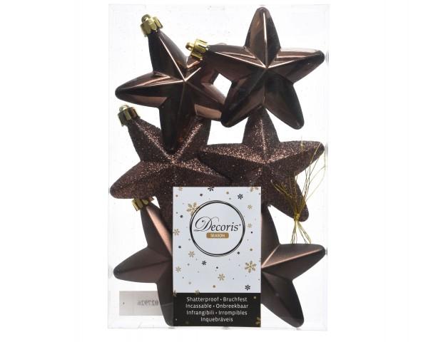 Baumschmuck Sterne bruchfest Schokoladenbraun