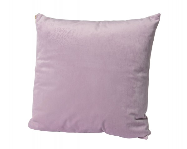 Kissen Kunstfaser lila lila mit Goldreissverschluss