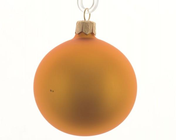 Baumschmuck Glaskugeln Ockergold