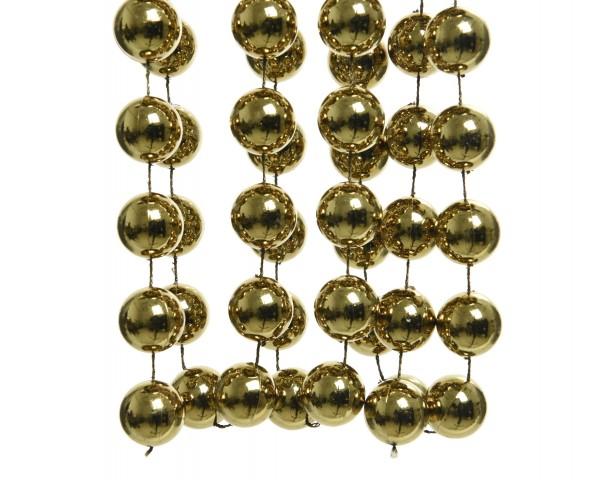 Deko Perlenkette XXL Moosgrün