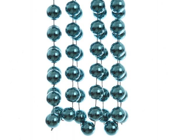 Deko Perlenkette XXL Petrolblau