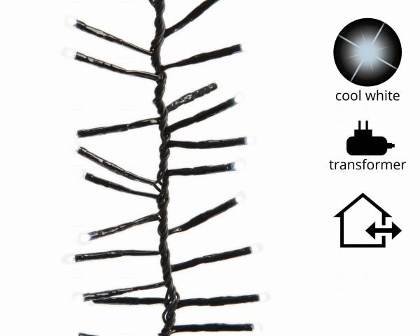 1-2-Glow Outdoor Lichterkette Weihnachtsbaum Cluster funkelnd für Bäume bis 2,40 m grün/kalt Weiß
