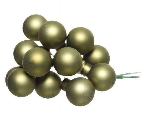 Glaskugelstrauß Moosgrün