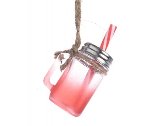 Anhänger Trinkglas mit Schraubdeckel