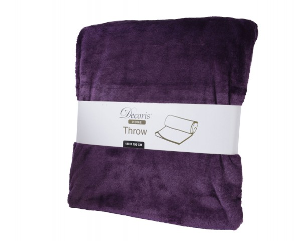 Decke Kunstfaser violett