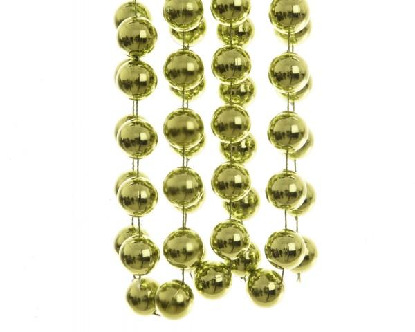 Deko Perlenkette XXL Olivfarbig