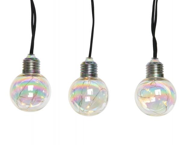 """Indoor Lichterkette """"Glühbirne"""" warmes Weiß 270cm-10x3Lichter"""