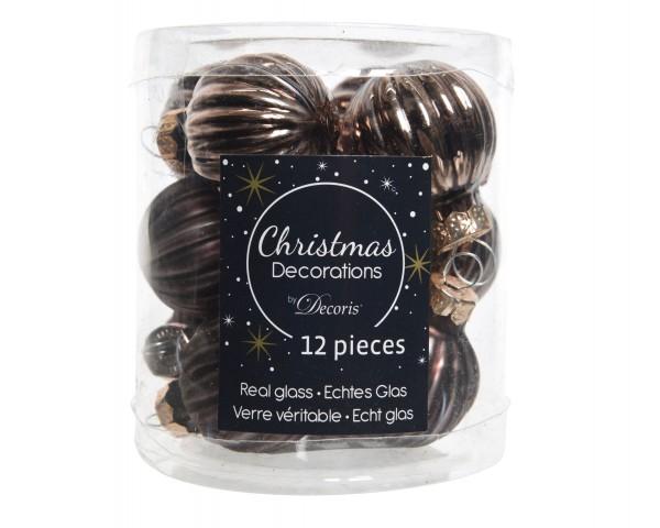 Baumschmuck Glassterne Mini Schokoladenbraun