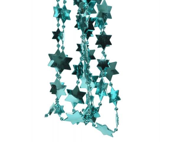 Deko Perlenkette mit Sternen Türkis
